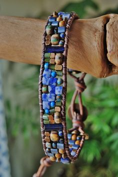 RUSTIC Old World CZECH & Sodalite SINGLE by BraceletsofBlueRidge