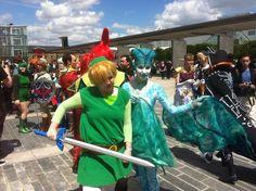 SuperZeldaGirl  and @LexiBlueGirl at the Zelda meet UK...