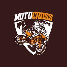 Moto cross logo vector Vector Premium Graphic Design Tools, Graphic Design Typography, Badge Design, Logo Design, Text Design, Motocross Logo, Extreme Motocross, Motos Ktm, Bike Illustration