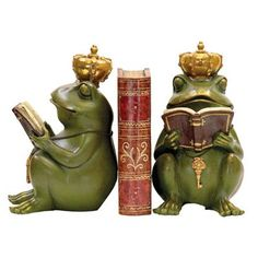 Have to have it. Pair of Noblest Frog Bookends $48.00
