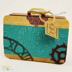DIY Party Favor Suitcase Box by Michelle Stewart