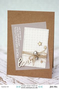 Karte von Julia mit dem Weihnachtskartenkit und dem Kartensketch #6 der Weihnachtskarten-Sketchwoche von www.danipeuss.de