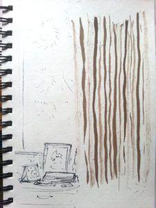 Dusty Hometown #writing #blog #inkdrawing #travelingartist #AMomentLonger