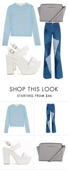 """Untitled #3828"" by evalentina92 ❤ liked on Polyvore featuring Tory Burch, STELLA McCARTNEY and Nly Shoes"