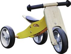 Nicko Mini 2 in 1 Lemon Yellow Wooden Balance Running Bike Trike 18 months - 3 years old Toys For Tots, Kids Toys, Traditional Toys, Wooden Baby Toys, Balance Bike, Outdoor Toys, Toys Online, Lemon Yellow, 18 Months