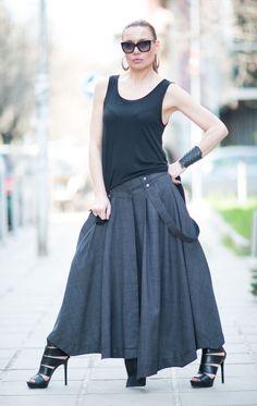 c424315d9f Womens Summer skirt Long womens skirt Asymmetrical Long