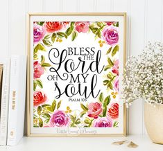 Psalm 103 Bible Verse Art Printable by LittleEmmasFlowers on Etsy