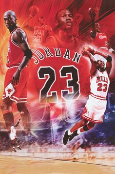 Michael Jordan Chicago Bulls #23 Collage Basketball Poster 24x36