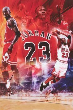 Michael Jordan Chicago Bulls #23 Collage Basketball Poster 24x36