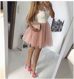 Pink Tulle Homecoming Dress,applique Homecoming Dresses,short Prom Dress,cute Party Dress,women Dres on Luulla Homecoming Dresses 2017, Hoco Dresses, Junior Dresses, Quinceanera Dresses, Formal Dresses, Tulle Dress, Dress Skirt, Cute Dresses For Party, Fru Fru