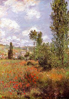 Claude Monet - Lane in the Poppy Field Ile Saint Martin