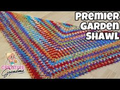 Premier Garden Shawl - Crochet Triangle Shawl - Crochet Tutorial - #Premieryarn #MakeitPremier - YouTube Crochet Prayer Shawls, Crochet Shawl, Knit Crochet, Crochet Triangle, Crochet Granny, Crochet Scarves, Crochet Patterns, Stitch, Knitting