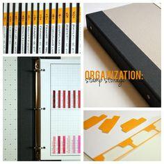 Stamp Storage Organization - craft room