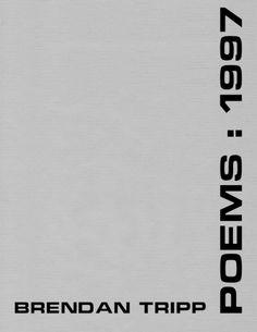 POEMS: 1997, Brendan Tripp, ISBN: 978-1-57353-030-9, #books, #poetry #btripp