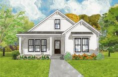 The Greenfield Cottage is offered by SDC House Plans. View more Cottage House Plans on the SDC website. House Plans One Story, Dream House Plans, Small House Plans, Dream Houses, Cat Houses, Dream House Interior, Dream Home Design, House Design, Cottage Design