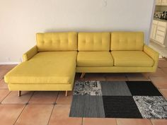Thrive Sectional Couch mid century modern teak legs : thrive sectional - Sectionals, Sofas & Couches