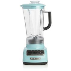 Crate & Barrel KitchenAid ® 5-Speed Aqua Sky Diamond Vortex Blender (1.065 NOK) ❤ liked on Polyvore featuring home, kitchen & dining, small appliances, kitchen, kitchen aid blender, drink blender, ice crusher blender, ice blender and kitchenaid blender