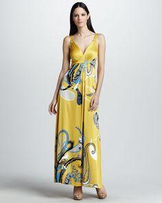 Liz Printed Maxi Dress by Elie Tahari at Neiman Marcus.
