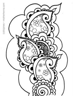 Image detail for -little reiki infused henna paisley vine to you for your wednesday ...