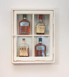 Whiskey Wall Cabinet with Windows by Schneider Architectural Works on Scoutmob Shoppe