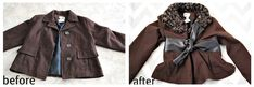 14 Ways to Refashion Winter Coats - Tutorial; Create a new look with old coats instead of buying a new one