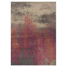 Darby Rug in Gray & Pink