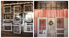 Vintage Windows At Wedding