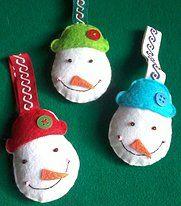Enfeites de Natal Boneco de Neve - 2,50€ cada