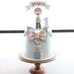 So innocent 💙 Beautiful Cakes, Amazing Cakes, Cakes For Boys, Boy Cakes, Sugar Cake, First Birthday Cakes, Fondant Cakes, Let Them Eat Cake, First Birthdays