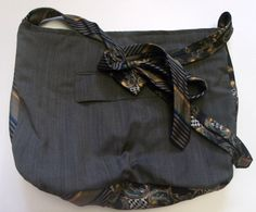Upcycled Menswear Purse in Earthen Tones by SuitsEclectic on Etsy, $25.00