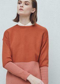 Tweekleurige trui -  Dames | MANGO