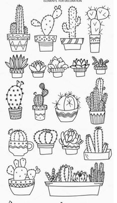 Doodle art 712061391074936985 - Bullet journal doodles Doodle drawings Cactuses doodle Gri Source by Bullet Journal Ideas Pages, Bullet Journal Inspiration, Bullet Journal Decoration, Doodle Drawings, Easy Drawings, Tattoo Drawings, Doodle Illustrations, Flower Drawings, Zentangle Drawings