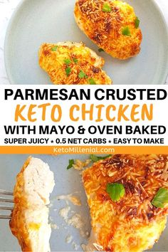 Best ever keto mayo chicken parmesan thighs that will literally melt in your mouth! You will never try a better baked mayo parmesan chicken recipe in your life! Try this easy keto parmesan crusted chicken with mayo today! Keto Chicken Thighs, Keto Chicken Thigh Recipes, Keto Crockpot Recipes, Ketogenic Recipes, Diet Recipes, Healthy Recipes, Chicken Legs, Protein Recipes, Soup Recipes