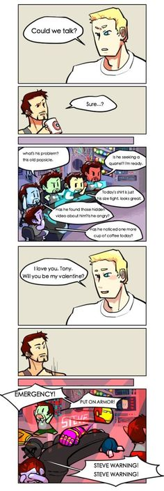 Now I personally ship Stucky and not Stony, but this is so amazing I can't help but repin