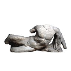 """didoofcarthage: """" Figure of a river-god from the west pediment of the Parthenon Acropolis, Athens, c. 438-432 B.C. marble The British Museum """""""