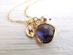 This personalised pendant. | 23 Mystical Amethyst Necklaces You'll Never Want To Take Off