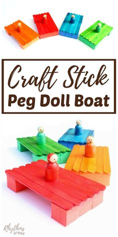 Making and playing with craft stick boats provides several valuable STEM learning opportunities for children. The kids will love creating these cute little popsicle stick boats with or without the peg doll on top. Once finished the kids can play with these boats in bathtubs, creeks, pools, lakes and even the ocean!