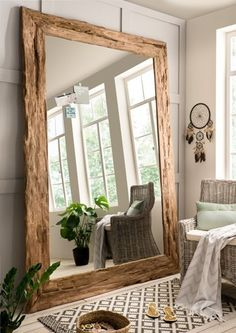 Source by The post Large wall mirror with teak frame appeared first on The most beatiful home designs. Bedroom Loft, Bedroom Decor, Living Room Mirrors, Wall Mirrors, Bedroom Mirrors, Large Bedroom Mirror, Mirror Room, Large Mirrors, Mirror House