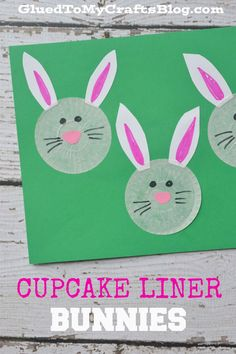 Cute Easter Kids Craft Roundup on OneCreativeMommy.com {Cupcake Liner Bunnies and more}