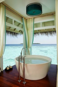 LUSH, EXPANSIVE VIEW ~~ 6 Beautiful & Luxurious Bathrooms from Pinterest from Bathroom Bliss @Takashi Tanaka Rod