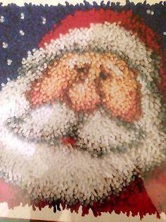 Latch-Hook-Rug-Kit-Folk-Santa-New-J-amp-P-Coats-Made-in-USA