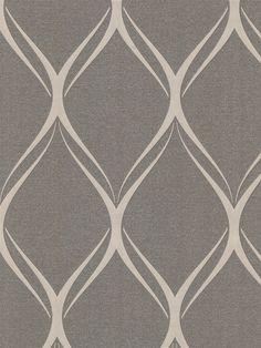 Gustav Brown Geometric Wallpaper | AmericanBlinds.com