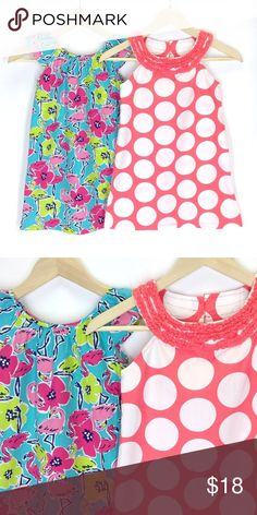 J. Khaki JK Girls Dresses Flamingo Polka Dots This listing is for a pair of J. Khaki JK Girls Dresses. Both are size 7. Only worn a couple of times each to church. J. Khaki Dresses Casual
