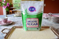 What is organic sugar? Organic sugar is a raw cane sugar with medium-size crystals and blond color, made from organic sugarcane and processed, handled and packaged according  the NOP