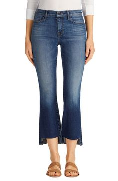 Selena Step Hem Crop Jeans (Decoy)  J brand.  love the step hem crop length.  perfect for pre-spring and spring and summer.  sandals or booties.  and the higher waist super flattering.  on sale during the nordstrom sale.