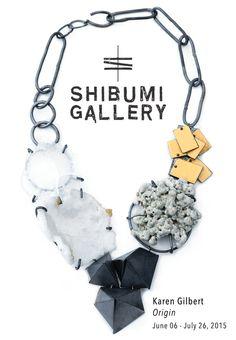 """Origin"" Karen Gilbert Jewelry-  June 06 - July 26, 2015-  *Opening / Artist Reception: Saturday, June 06,  5-8pm - Shibumi Gallery is pleased to announce Origin, a show of sculptural jewelry by Karen Gilbert."