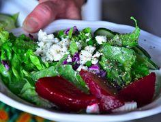 Fresh Beet & Feta Salad  from @Sandy Coughlin | Reluctant Entertainer.com