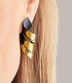 Leaf Jewelry, Enamel Jewelry, Jewelry Art, Silver Jewelry, Jewelry Design, Jewellery, Jewelry Photography, Beautiful Earrings, Personalized Jewelry