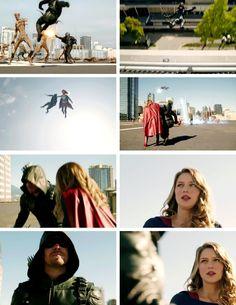 Kara saving Oliver! #LegendsofTomorrow #Season2 #2x07 - Crossover Part 3!