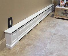 Built in bookcase over baseboard heat idea for putting for Copri battiscopa bricoman